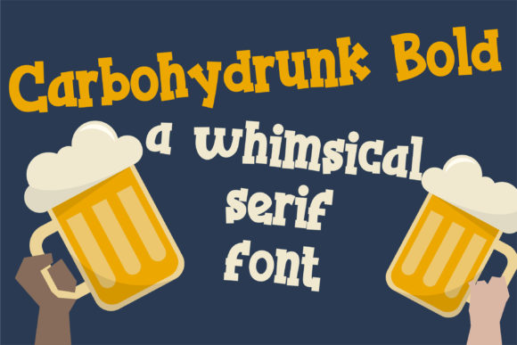 Print on Demand: Carbohydrunk Serif Font By Illustration Ink - Image 1