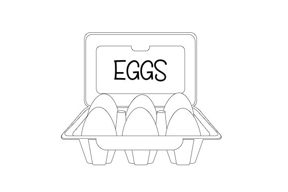 Carton of Eggs Kitchen Craft Cut File By Creative Fabrica Crafts - Image 2