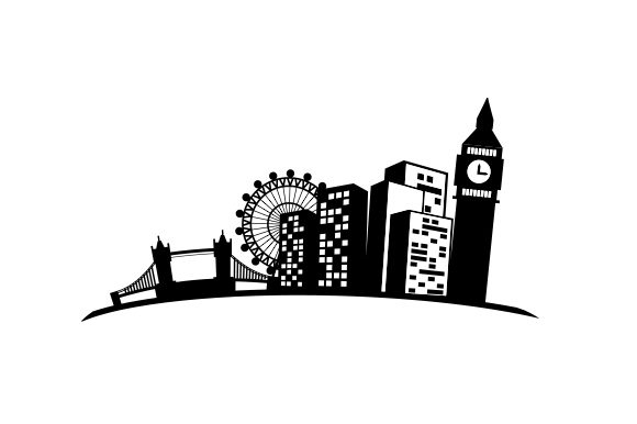 Cartoon London Cityscape UK Designs Craft Cut File By Creative Fabrica Crafts