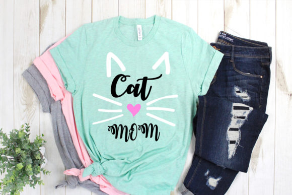 Download Free Cat Mom Cat Mom Bundle Cut File Mom Graphic By Scmdesign for Cricut Explore, Silhouette and other cutting machines.