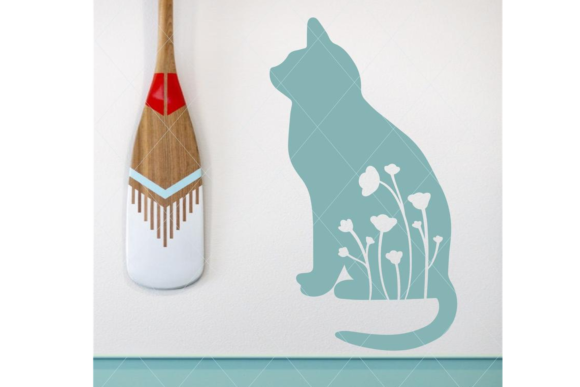 Print on Demand: Cat and Flowers Svg Graphic Crafts By TheLoveByrds