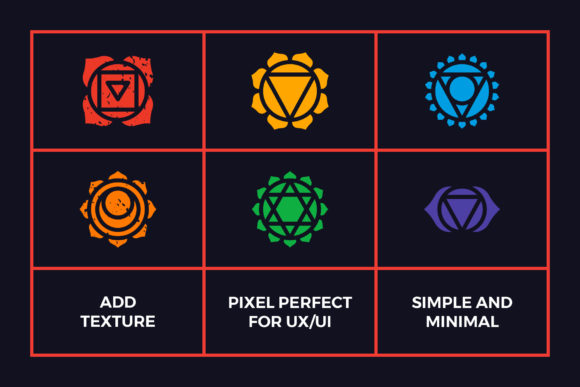 Chakra Symbols Set Spiritual Vector Graphic Icons By abstractocreate - Image 3