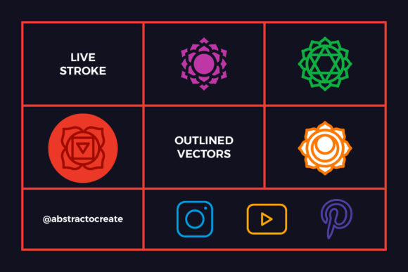 Chakra Symbols Set Spiritual Vector Graphic Icons By abstractocreate - Image 7
