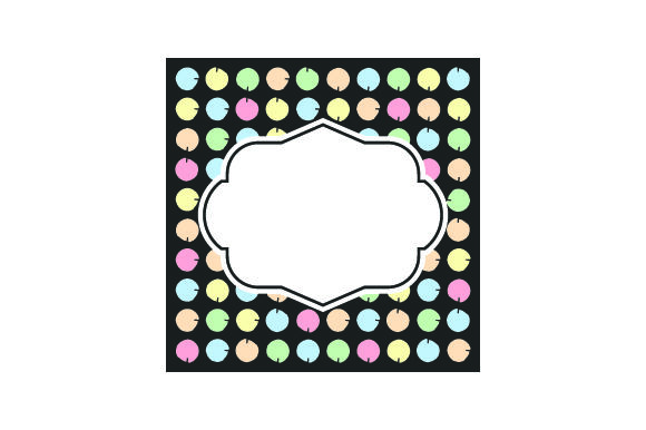 Chalkboard - Picture Frames with Polka Dots in Pastel Colors Designs & Drawings Craft Cut File By Creative Fabrica Crafts