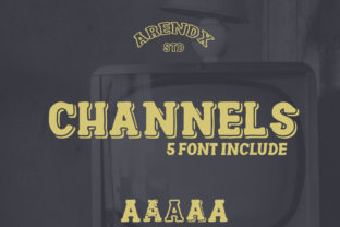Print on Demand: Channels Family Display Font By Arendxstudio
