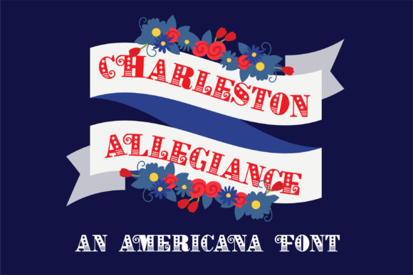 Print on Demand: Charleston Allegiance Display Font By Illustration Ink