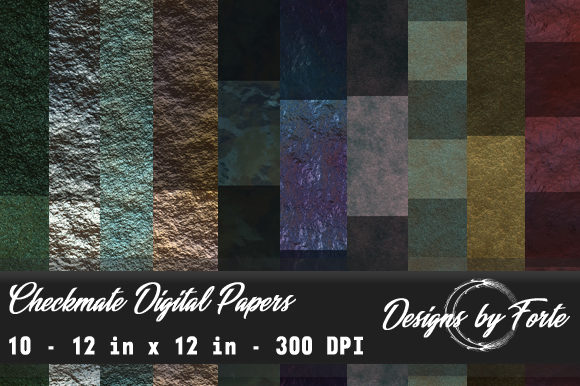 Print on Demand: Checkmate Digital Papers Graphic Textures By Heidi Vargas-Smith
