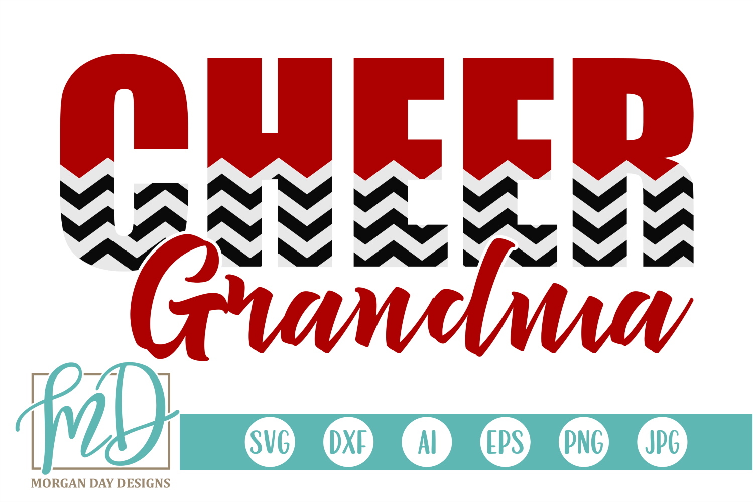 Download Free Cheer Grandma Graphic By Morgan Day Designs Creative Fabrica for Cricut Explore, Silhouette and other cutting machines.