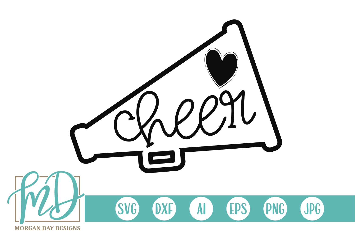 Download Free Cheer Megaphone Graphic By Morgan Day Designs Creative Fabrica for Cricut Explore, Silhouette and other cutting machines.