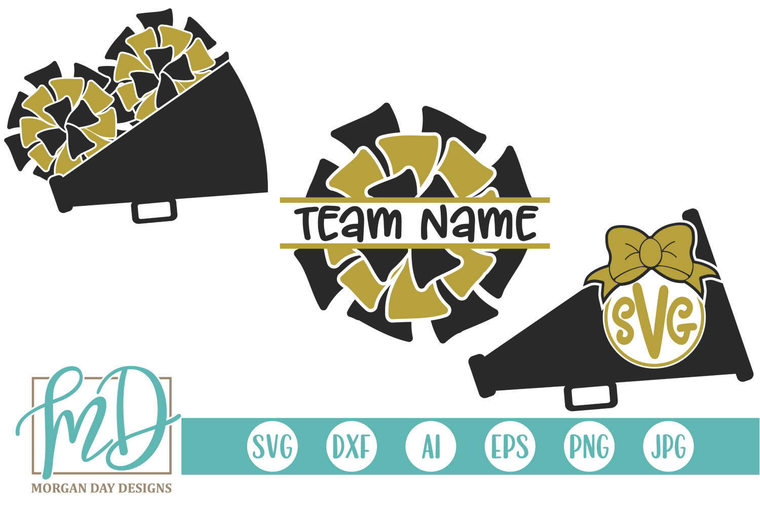 Download Free Cheer Monogram Graphic By Morgan Day Designs Creative Fabrica SVG Cut Files