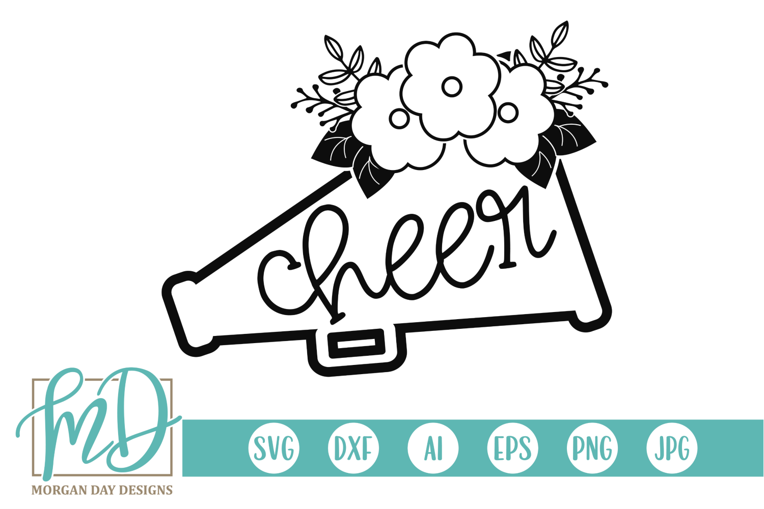 Download Free Cheer Graphic By Morgan Day Designs Creative Fabrica for Cricut Explore, Silhouette and other cutting machines.