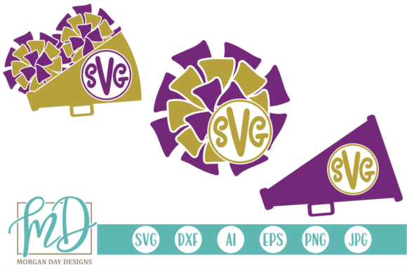 Cheer SVG Graphic Crafts By Morgan Day Designs