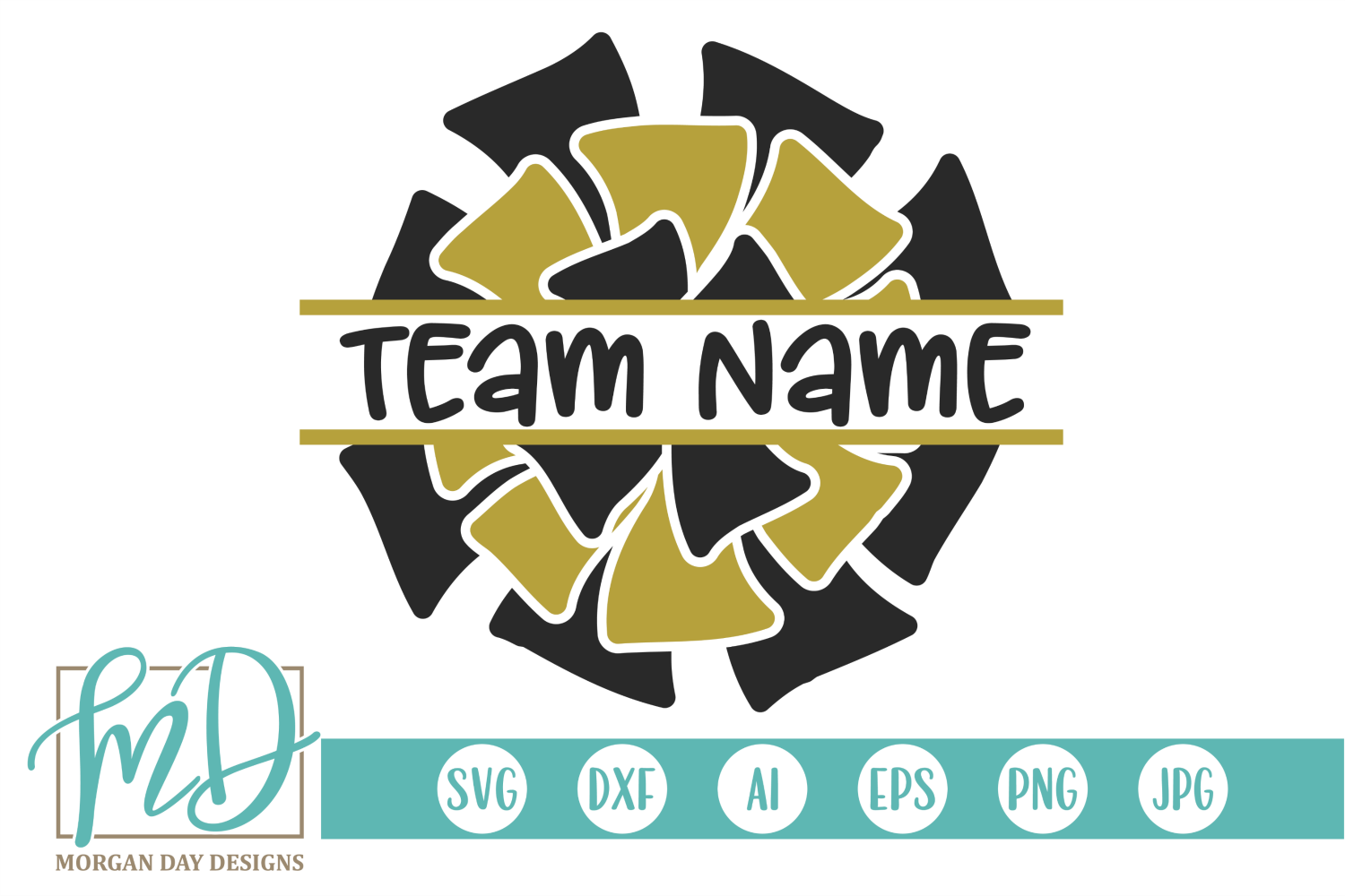 Download Free Cheerleader Graphic By Morgan Day Designs Creative Fabrica for Cricut Explore, Silhouette and other cutting machines.