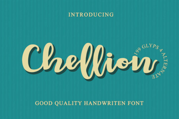 Print on Demand: Chellion Script & Handwritten Font By LetterBeary