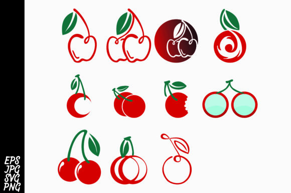 Print on Demand: Cherry Logo Bundle Graphic Icons By Arief Sapta Adjie
