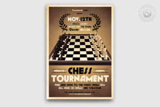 Chess Tournament Flyer Template Graphic By ThatsDesignStore