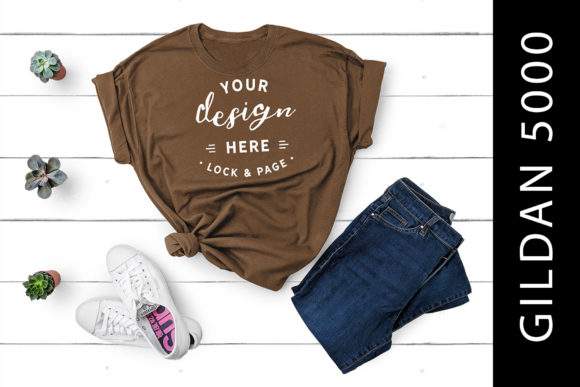 Download Free Chestnut Gildan 5000 T Shirt Mockup Girl Grafico Por Lockandpage Creative Fabrica for Cricut Explore, Silhouette and other cutting machines.