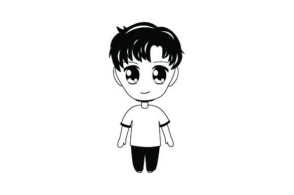 Download Free Chibi Anime Boy Svg Cut File By Creative Fabrica Crafts for Cricut Explore, Silhouette and other cutting machines.