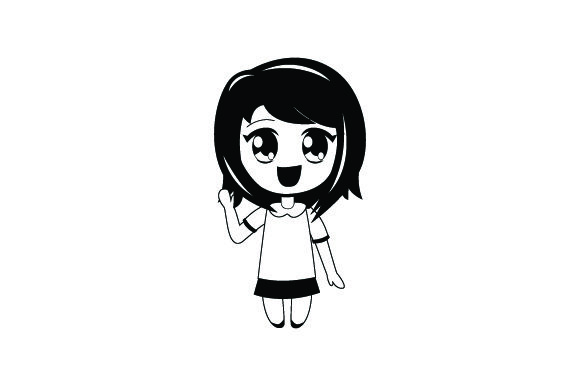 Download Free Chibi Anime Girl Svg Cut File By Creative Fabrica Crafts for Cricut Explore, Silhouette and other cutting machines.