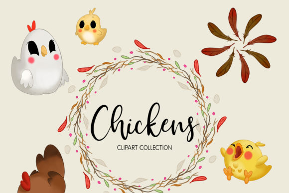 Chickens Clipart Collection Graphic Illustrations By usefulbeautiful - Image 2