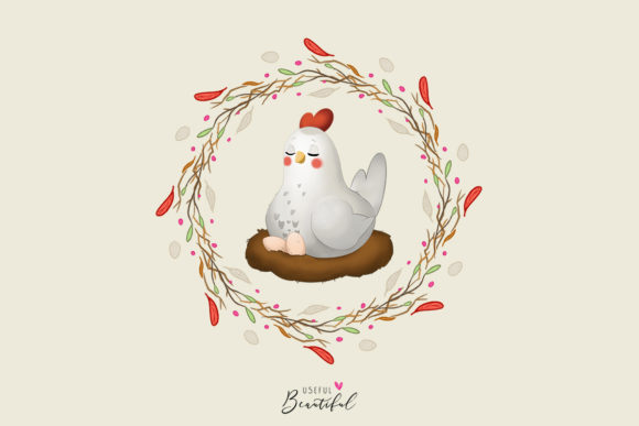 Chickens Clipart Collection Graphic Illustrations By usefulbeautiful - Image 4