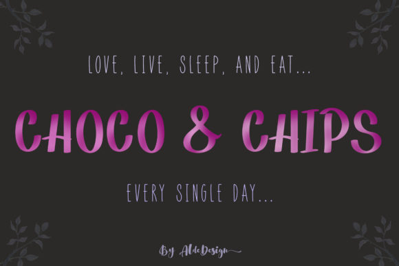 Print on Demand: Choco & Chips Script & Handwritten Font By aldedesign