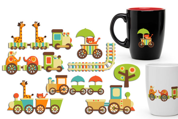 Print on Demand: Chou Chou Trains Animals Graphic Illustrations By Revidevi