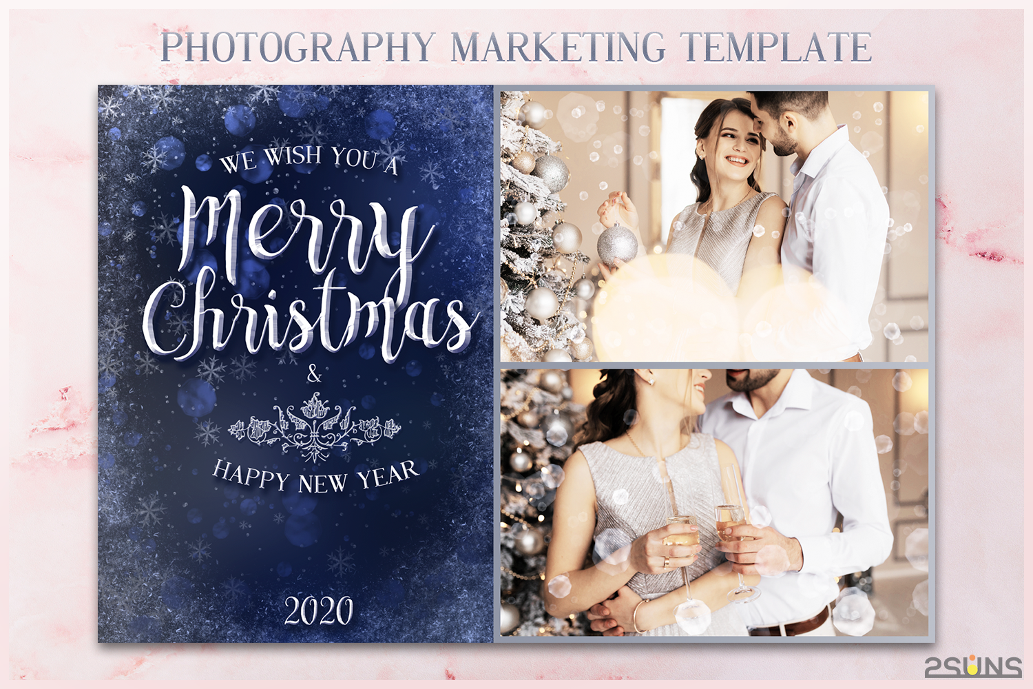 Christmas Card Template Mini Session Graphic By 2suns Creative Fabrica