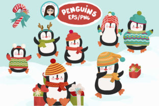 Download Free Christmas Penguin Set Graphic By Cutelittleclipart Creative SVG Cut Files