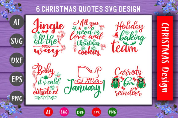 Print on Demand: Fun Christmas SVG Bundle Graphic Crafts By CreativeArt