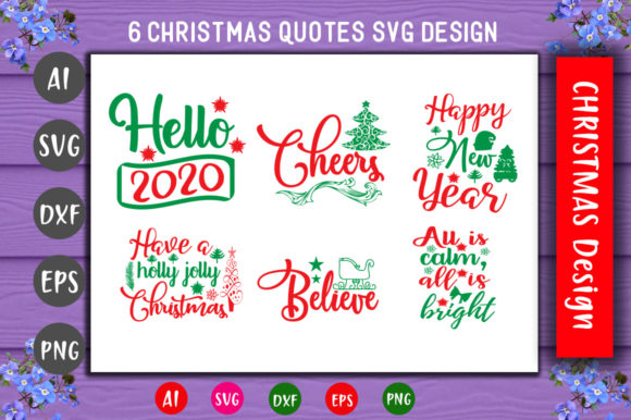 Print on Demand: Christmas SVG  Cute Bundle Graphic Crafts By CreativeArt