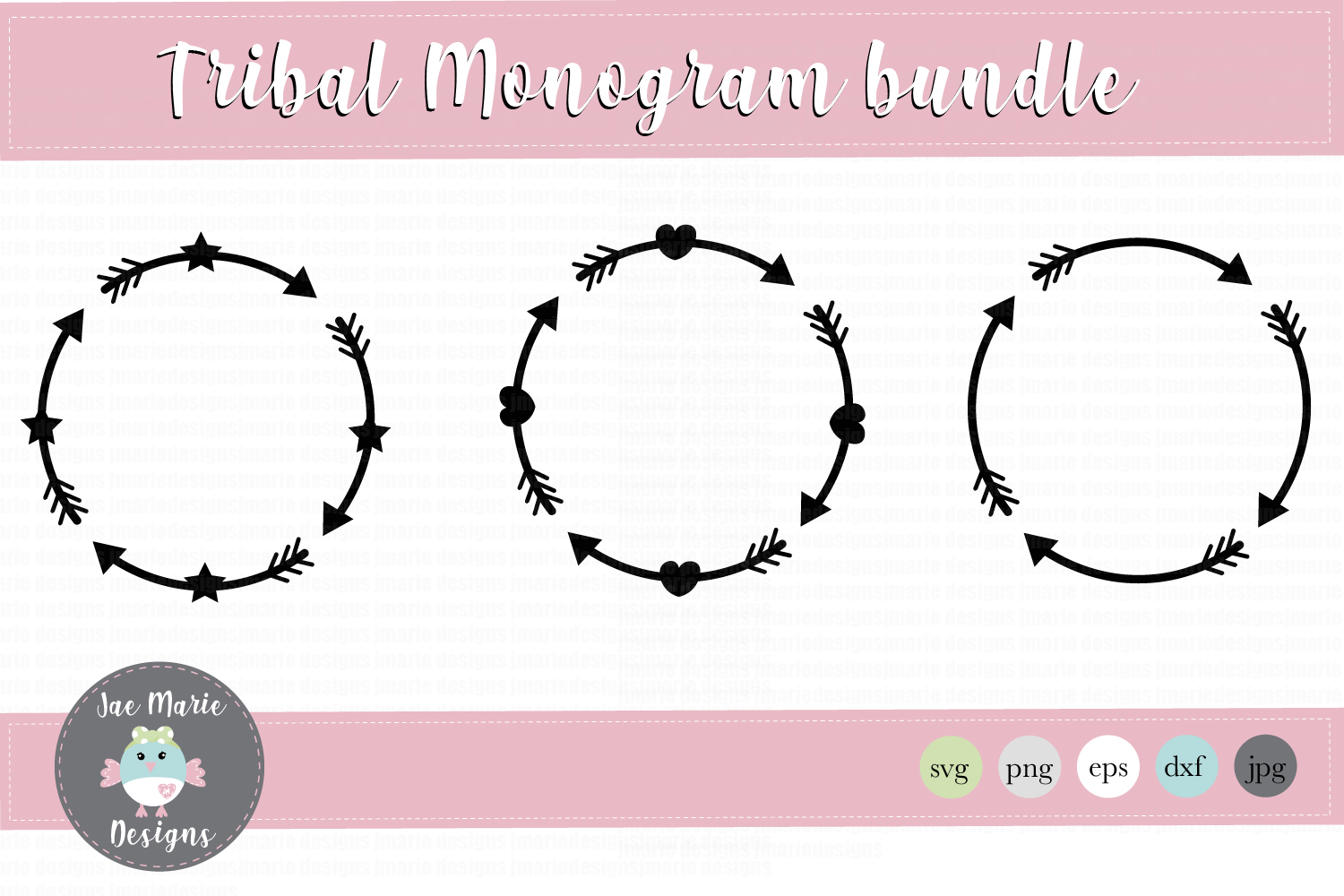 Download Free Circle Monogram Arrow Monogram Graphic By Thejaemarie for Cricut Explore, Silhouette and other cutting machines.