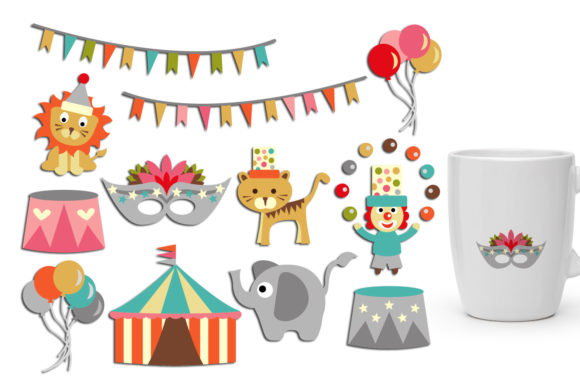 Print on Demand: Circus Graphic Illustrations By Revidevi