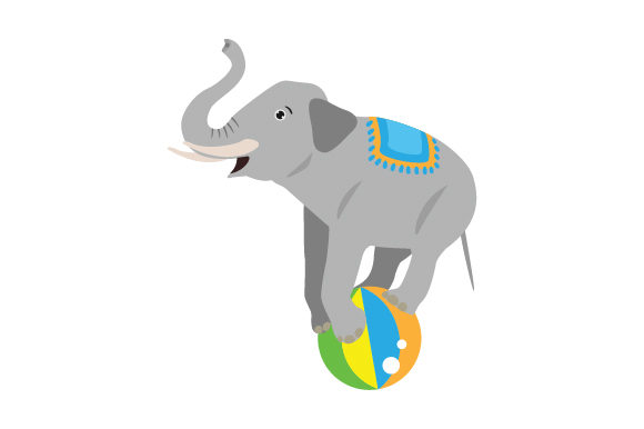 Download Free Circus Elephant Svg Cut File By Creative Fabrica Crafts for Cricut Explore, Silhouette and other cutting machines.