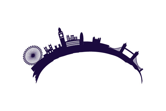 Cityscape of London UK Designs Craft Cut File By Creative Fabrica Crafts