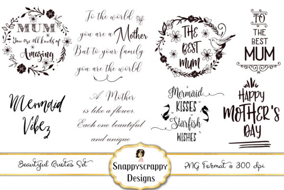 Clipart Quotes Graphic Illustrations By Snappyscrappy