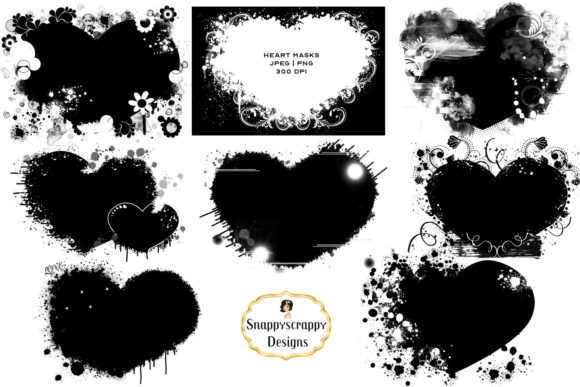 Download Free Clipping Masks Graphic By Snappyscrappy Creative Fabrica for Cricut Explore, Silhouette and other cutting machines.