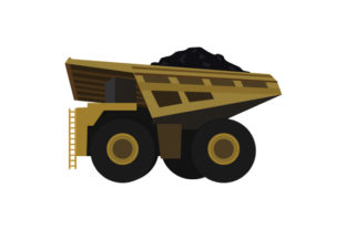 Coal Mining Truck Craft Design By Creative Fabrica Crafts