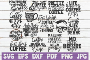 Download Free Coffee Bundle Cut Files Graphic By Mintymarshmallows for Cricut Explore, Silhouette and other cutting machines.
