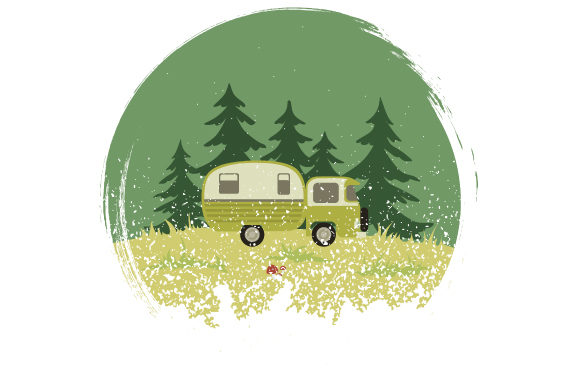 Color Retro Distressed Style Camping Van Nature & Outdoors Craft Cut File By Creative Fabrica Crafts