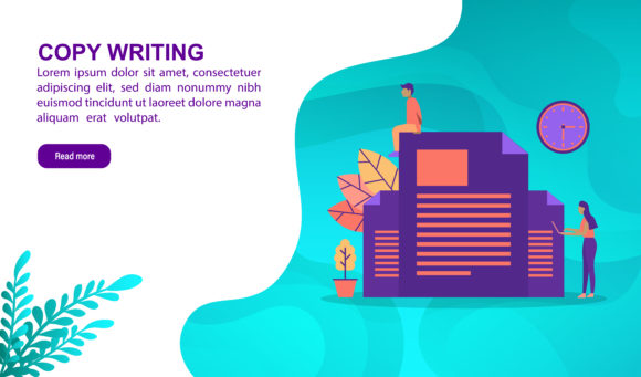Download Free Copy Writing Flat Design Concept Graphic By Efosstudio for Cricut Explore, Silhouette and other cutting machines.