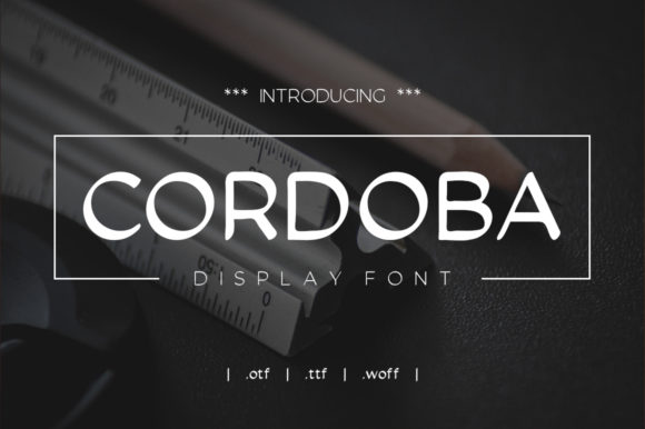 Print on Demand: Cordoba Sans Serif Font By Zavira Mumtaz