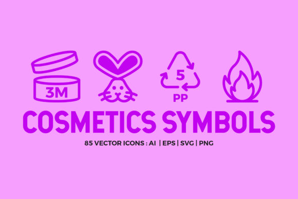 Cosmetic Packaging Symbols | Icons Graphic Icons By abstractocreate