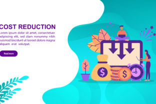 Download Free Cost Reduction Flat Design Concept Graphic By Efosstudio for Cricut Explore, Silhouette and other cutting machines.