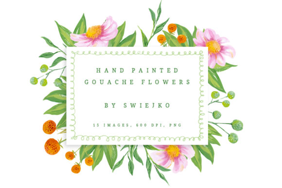Download Free Country Gouache Flowers Graphic By Swiejko Creative Fabrica for Cricut Explore, Silhouette and other cutting machines.
