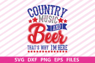 Print on Demand: Country Music and Beer That's Graphic Print Templates By Designartstore
