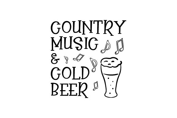 Country Music & Cold Beer Craft Design By Creative Fabrica Crafts Image 1