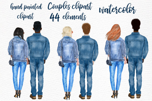 Couples Clipart Girlfriend Boyfriend Graphic Illustrations By LeCoqDesign