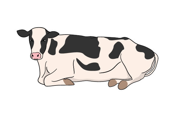 Download Free Cow Laying On Its Side Svg Cut File By Creative Fabrica Crafts for Cricut Explore, Silhouette and other cutting machines.