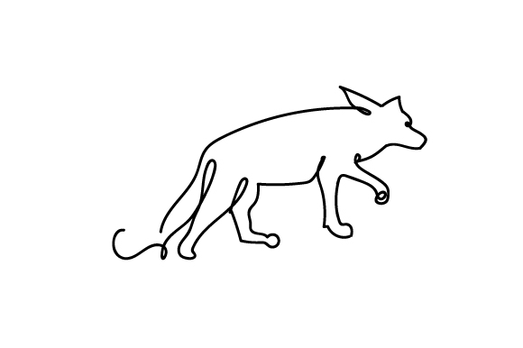 Download Free Coyote Lineart Svg Cut File By Creative Fabrica Crafts for Cricut Explore, Silhouette and other cutting machines.